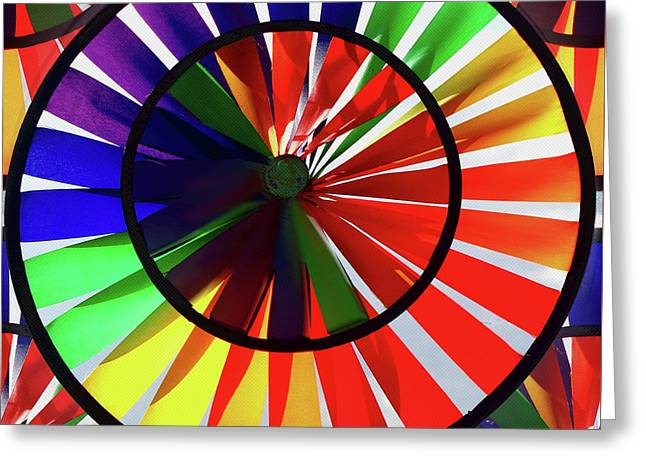 Greeting Card featuring the photograph noWind wheel by Luc Van de Steeg