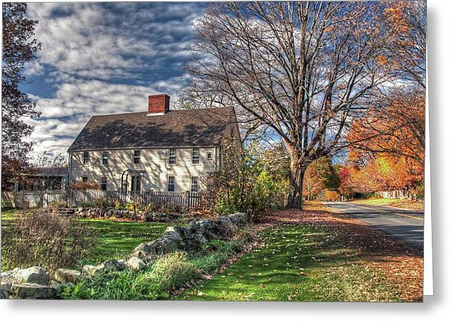 Noyes House In Autumn Greeting Card