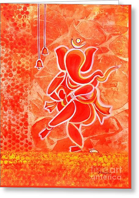 Nritya Ganesha- Dancing God Greeting Card