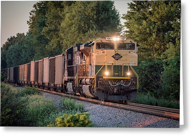 Ns Heritage Reading Lines Southbound At Sullivan In Greeting Card by Jim Pearson