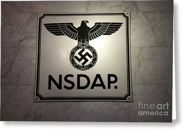 Nsdap Sign  Greeting Card by Chris Evans