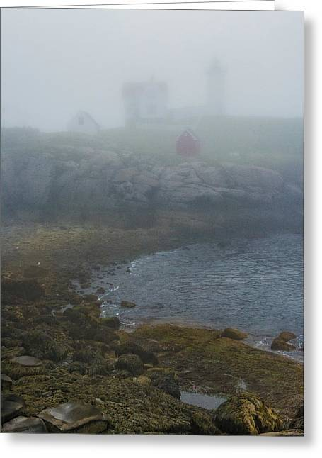 Nubble Light Greeting Card by Joseph Smith