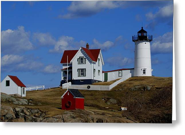 Nubble Light Greeting Card by Lois Lepisto