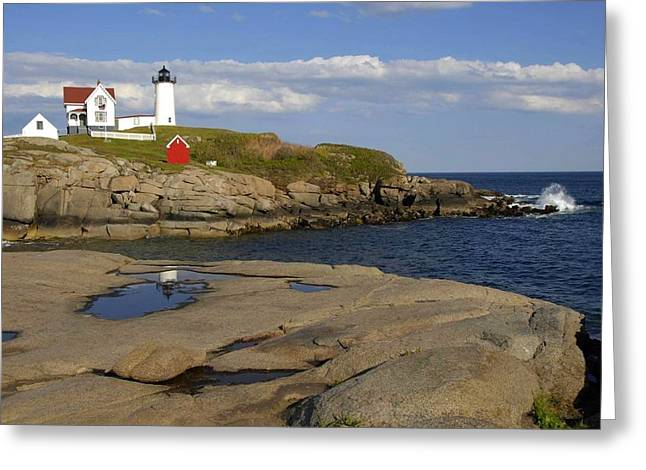 Nubble Light Maine Greeting Card