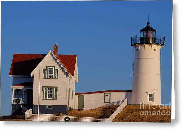 Nubble Lighthouse Greeting Card by David Bishop