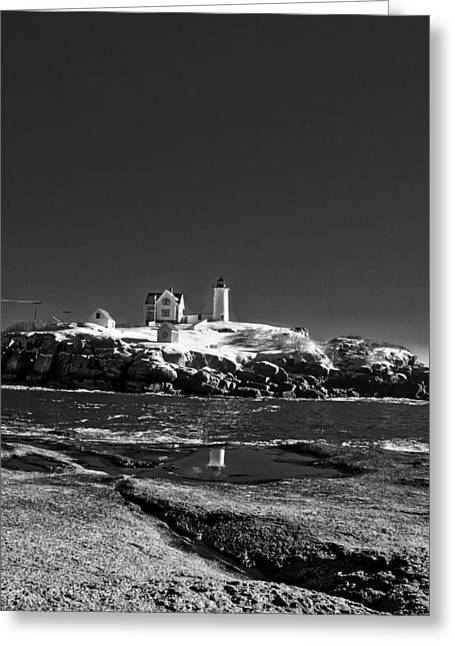 Nubble Lighthouse - York - Maine Greeting Card