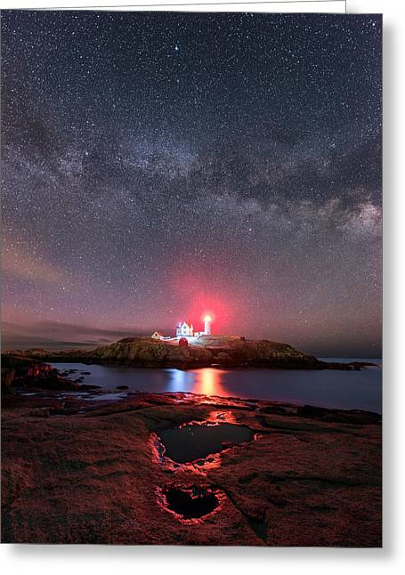 Nubble Night - Vertical Greeting Card