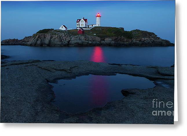 Nubble Puddle Greeting Card by Jerry Fornarotto