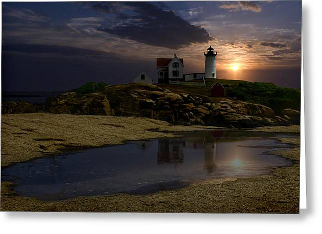 Puddle Digital Art Greeting Cards - Nubble Greeting Card by Wade Aiken