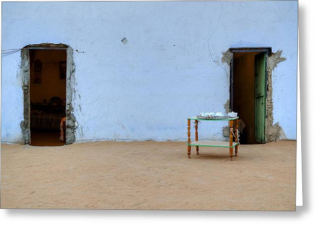 Nubian House In Egypt Greeting Card by Joana Kruse