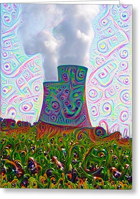 Nuclear Dreams Greeting Card by Bill Cannon