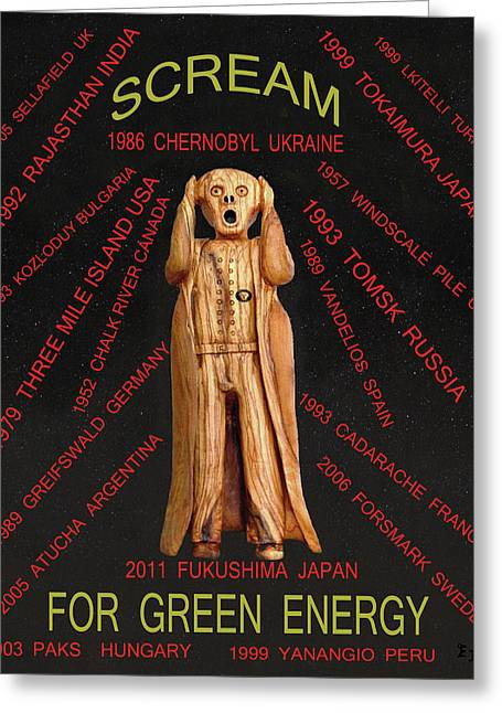 Scream World Tour Mixed Media Greeting Cards - Nuclear Energy Greeting Card by Eric Kempson