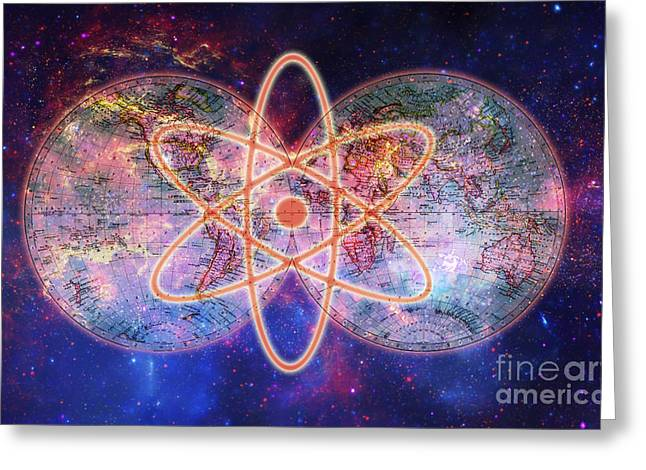 Nuclear World Greeting Card by George Mattei