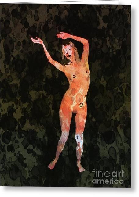 Nude 1 Pop Art By Mary Bassett Greeting Card