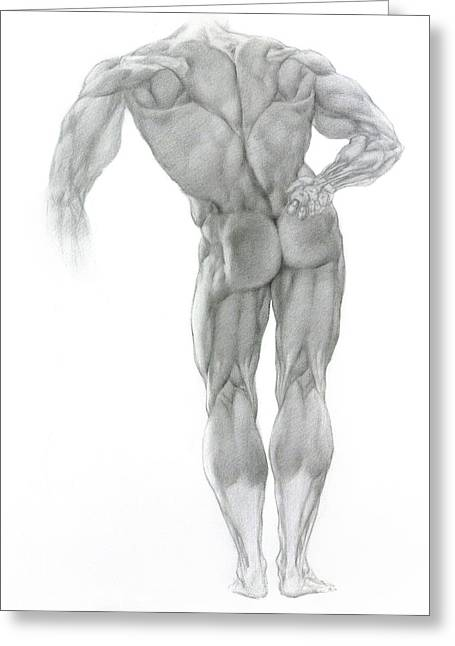 Greeting Card featuring the drawing Nude 2 by Valeriy Mavlo