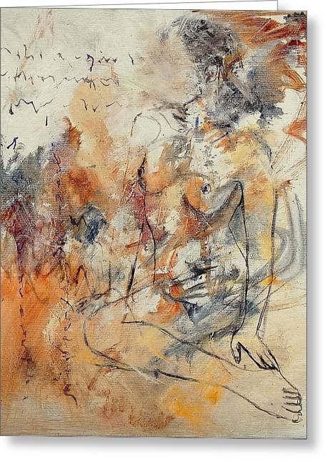 Nude 679070 Greeting Card by Pol Ledent