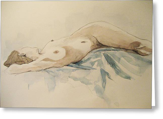 Nude 9 Greeting Card by Victoria Heryet