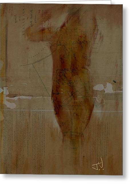 Nude Abstract 12feb2016 Greeting Card