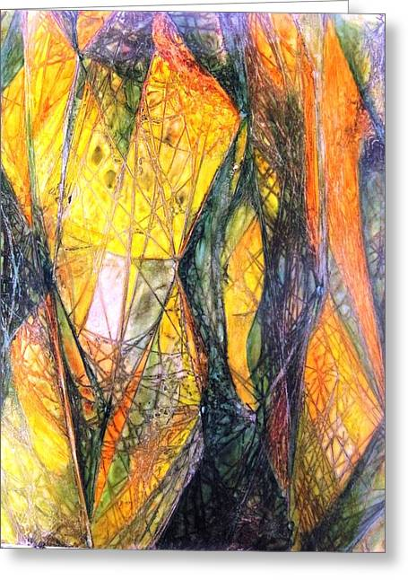 Nude Abstraction X 2 Greeting Card