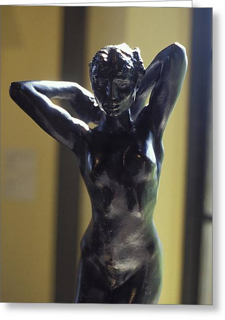 Naked Sculptures Greeting Cards - Nude by Rodin Greeting Card by Carl Purcell