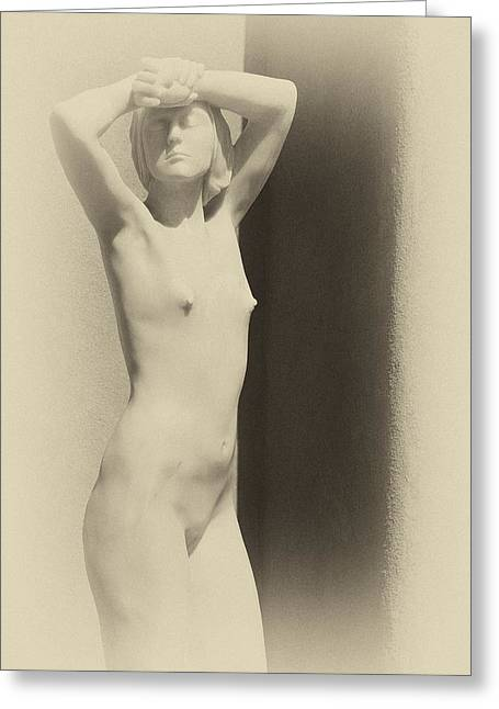 Nude Sculpture Greeting Cards - Nude Greeting Card by Carolyn Dalessandro