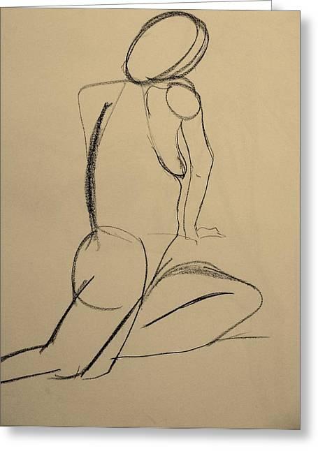 Nude Drawing 2 Greeting Card