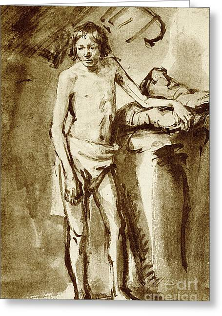 Nude Drawing For A Youth Greeting Card