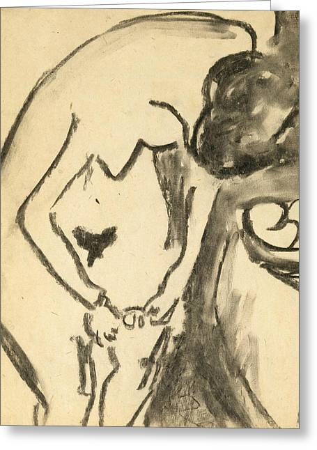 Nude  Greeting Card by Ernst Ludwig Kirchner