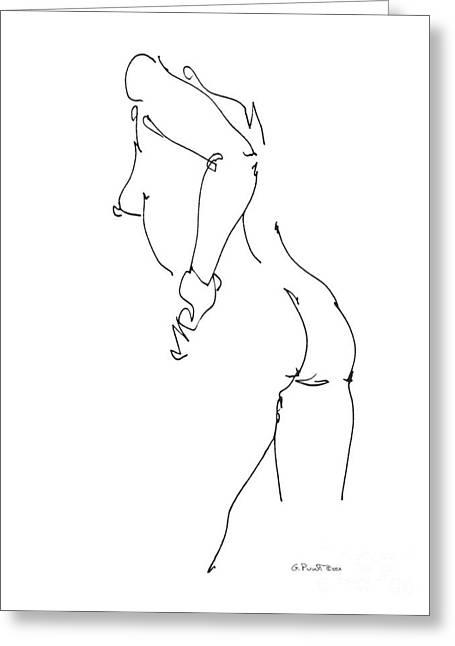 Nude Female Drawings 11 Greeting Card