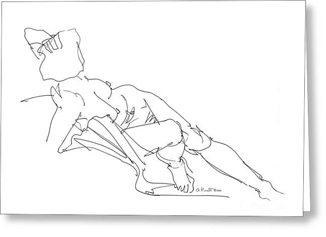 Gordon Punt Greeting Cards - Nude Female Drawings 3 Greeting Card by Gordon Punt
