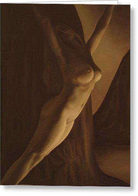 Nude Figure Greeting Card