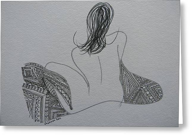 Nude II Greeting Card