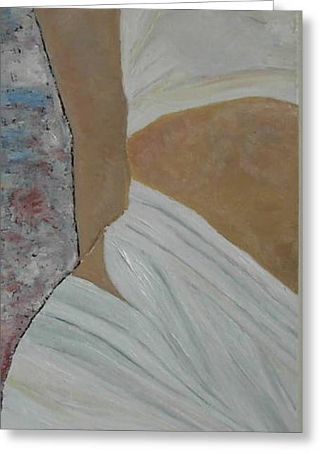 White Cloth Paintings Greeting Cards - Nude in Spa Greeting Card by Dorota Nowak
