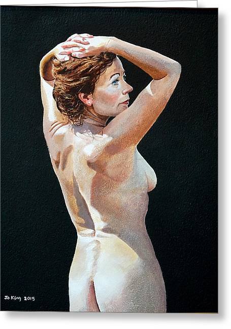 Nude In Sunlight Greeting Card by Jo King
