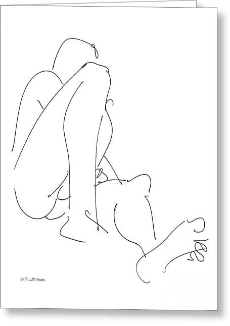 Nude-male-drawing-12 Greeting Card