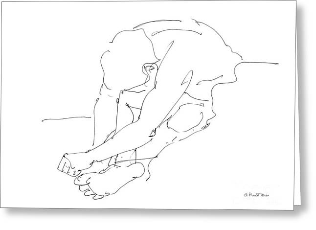 Nude Male Drawings 8 Greeting Card by Gordon Punt