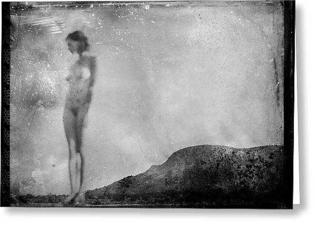 Nude On The Fence, Galisteo Greeting Card