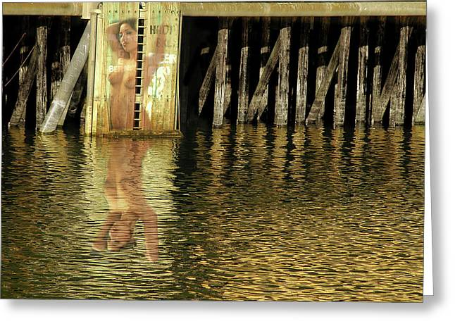 Nude Reflection Greeting Card by Harry Spitz