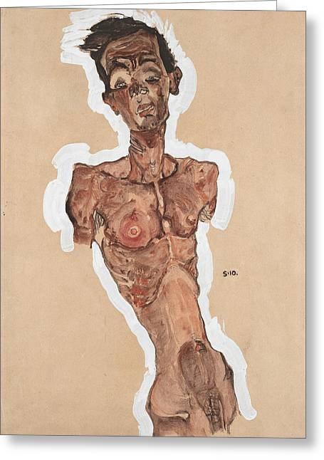 Nude Self-portrait Greeting Card