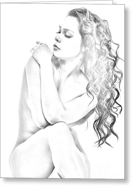 Nude Sketch Greeting Card