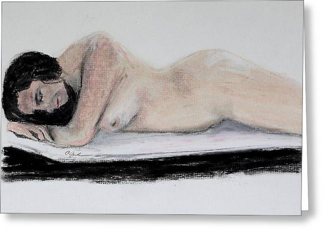 Nude Sleeper Greeting Card