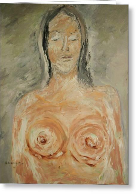 Nude Sleeping Greeting Card by Edward Wolverton