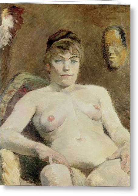 Nude Woman, 1884 Greeting Card