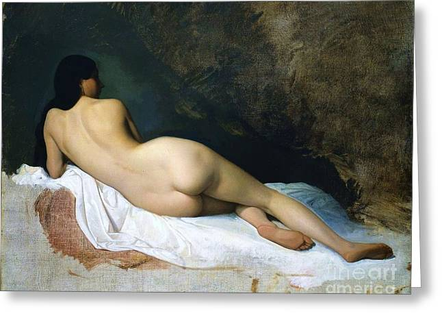 Nude Woman  Greeting Card by Pg Reproductions