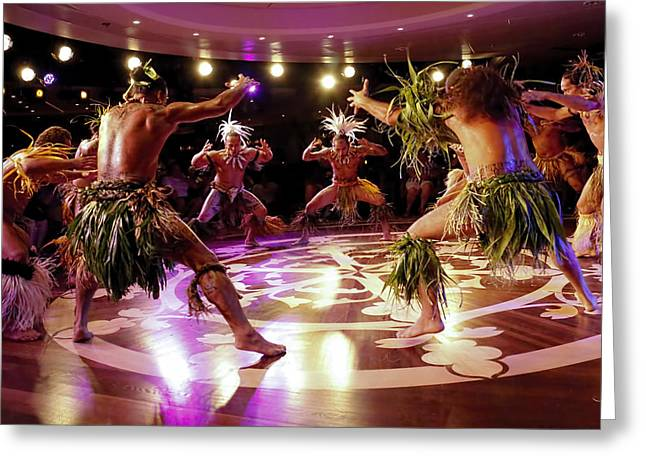 Nuku Hiva Dancers Greeting Card