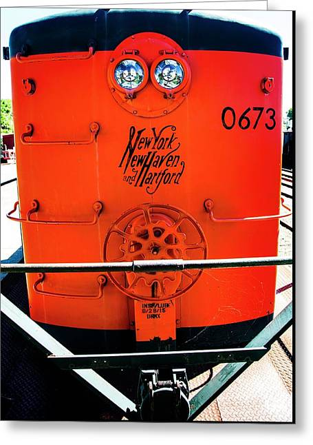Number 0673 Train Greeting Card by Karol Livote