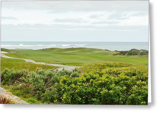Number 1 From The Whites At Spanish Bay Greeting Card by Barbara Snyder