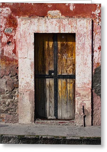 Number 139 San Miguel De Allende Greeting Card by Carol Leigh