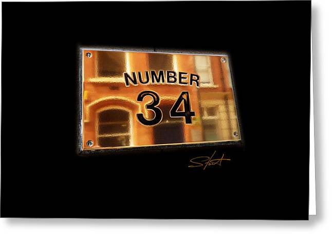 Number 34 Greeting Card by Charles Stuart