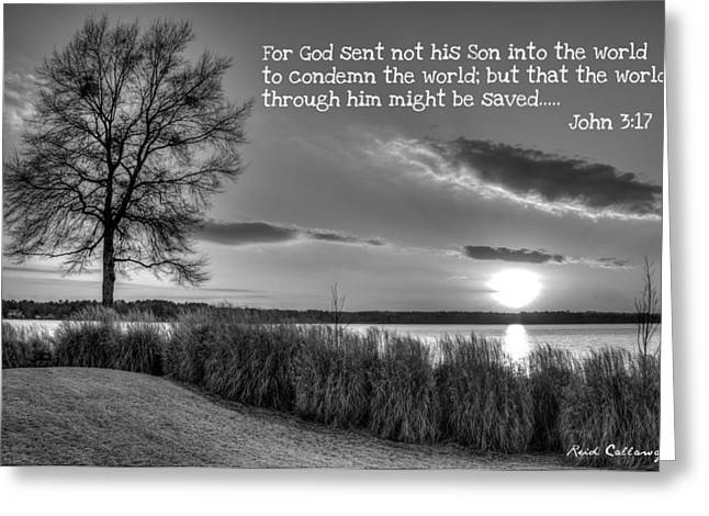 Number 4 The Landing John 3 17 Greeting Card